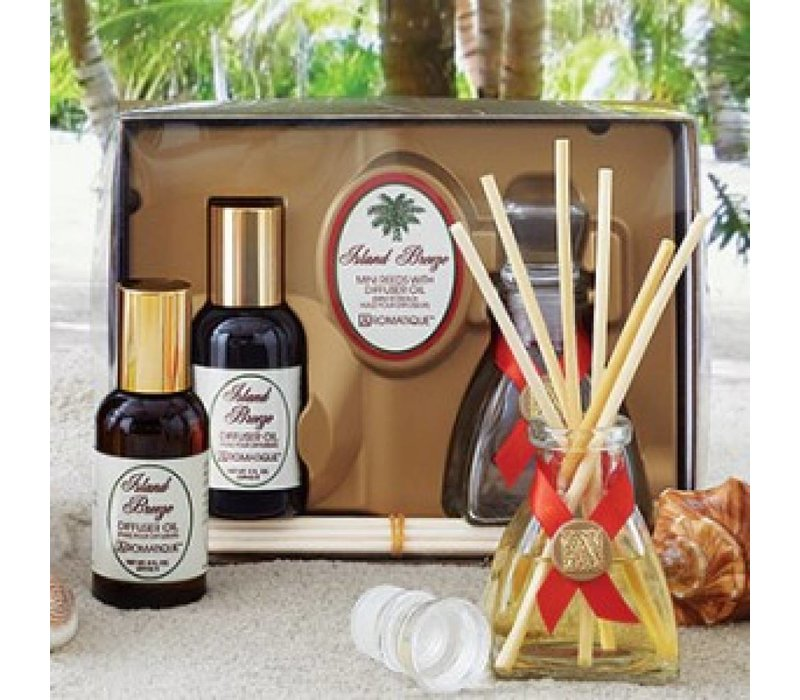 Island Breeze Mini Reed Diffuser Set