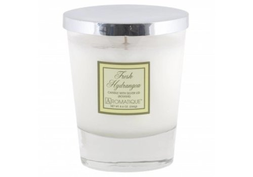 Fresh Hydrangea Candle with Silver Lid