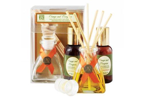 Orange & Evergreen Mini Reed Diffuser Set