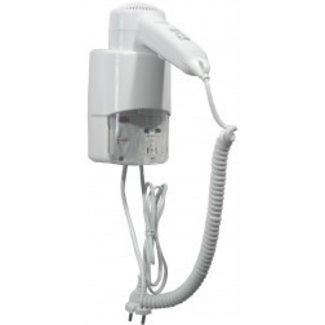 Mediclinics Haardroger ABS met shaver aansluiting en snoer wit