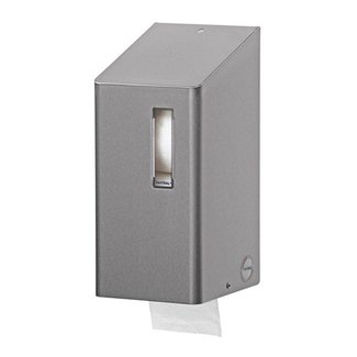 Santral Toiletroldispenser 2 rols traditioneel RVS