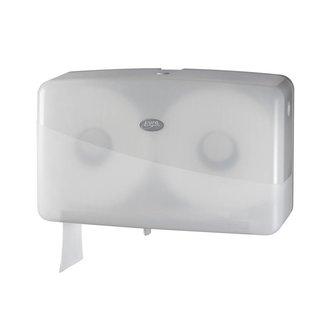 Euro Products Pearl White Duo Mini Jumbo Toiletroldispenser