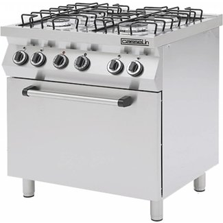 Casselin Gasfornuis 4 pits met oven