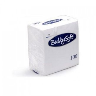 Bulky Soft Servetten 2 Laags 40 x 40 - 1/4 Vouw - Wit