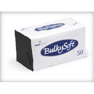 Bulky Soft Servetten 2 Laags 40 x 40 - 1/8 Kopvouw - Zwart