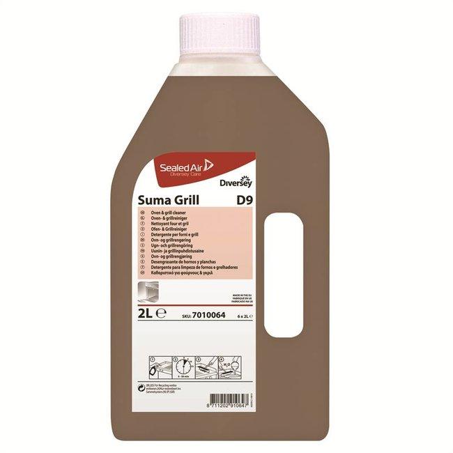 Diversey Suma Grill D9 - Flacon + Schuimlans - 6 x 2 ltr