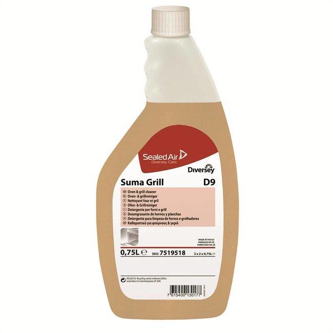 Diversey Suma Grill D9 - Flacon + Schuimlans - 3 x 2 x 750 ml