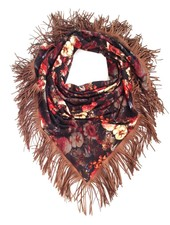 Loved by Blanche Flower Scarf - Black