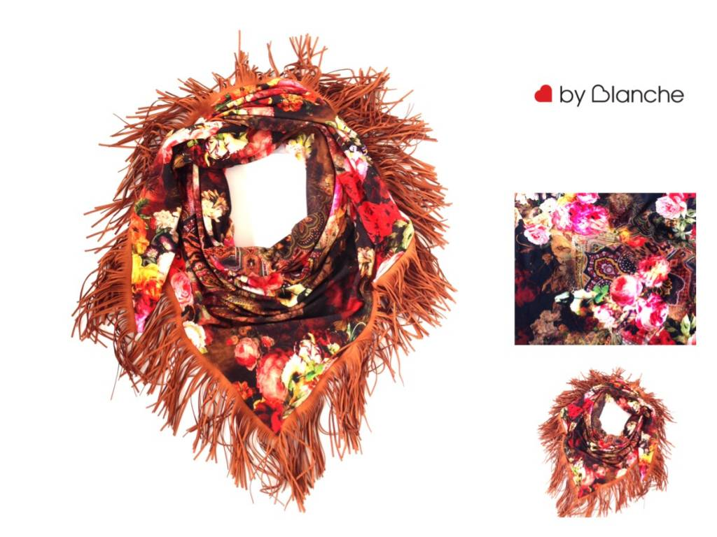 Loved by Blanche Flower Scarf - Multi
