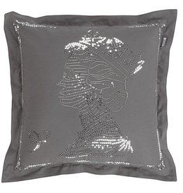KARDOL & VERSTRATEN Hyde Park Queen cushion KV Grey