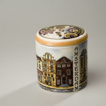 Stroopwafelpot aardewerk - Amsterdam