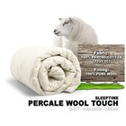 Percal Wool Touch-Quilts Einzel