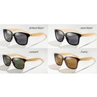 Half Bamboo sun glasses in 4 colors