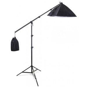 Semi professionele fotostudio lamp met boomarm