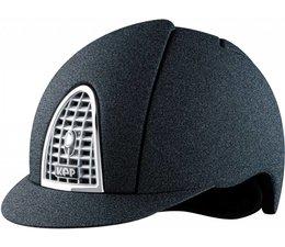 Mica zwart grill in kleur helm