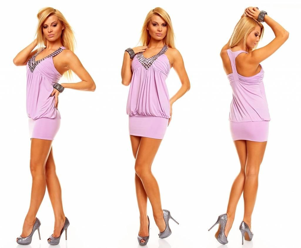 licht paarse jurk