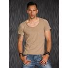 T-Shirt in Casual Stijl met Ronde Hals Pine Bark