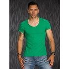 T-Shirt in Casual Stijl met Ronde Hals Groen