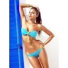 Tweedelige Trendy Bandeau Bikini Set Blauw
