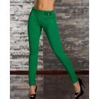 Fashion Broek van Zachte Stretch Stof Groen