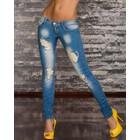 Skinny Jeans in Trendy Vernietigd Look