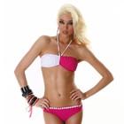 Neckholder Barbie Bikini met Bloemetjes Wit / Pink