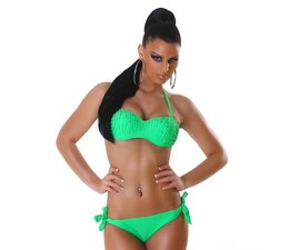 Bandeau Bikini Set met Fonkelende Steentjes