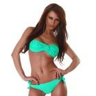 Gedraaide Bandeau Bikini in 8-vorm Groen