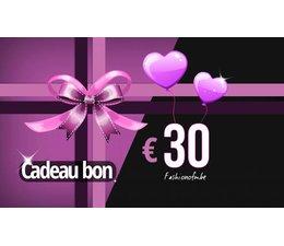 Cadeaubon € 30