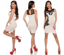Elegante Fashion Jurk Creme