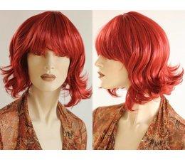 Halflange Pruik Rood Haar PR351-03
