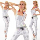Lange Fashion Jumpsuit Licht Grijs