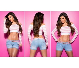 Fashion Jeanshort met Riem