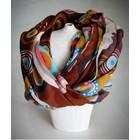 Soepelzachte Sjaal Multicolor Bruin