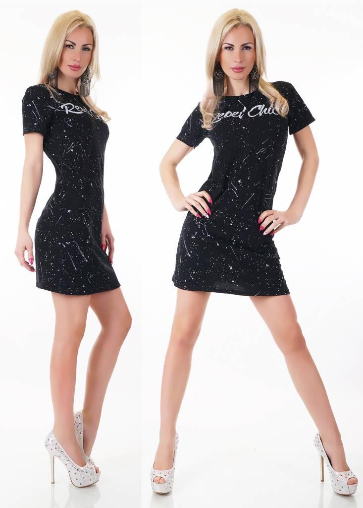 Zwart Jurkje Kort.Fashion Mini Jurk Met Korte Mouwen Zwart Fashion Of M