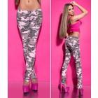 Koucla Skinny Broek in Camouflage-Look