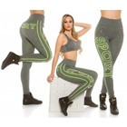 Trendy Workout Legging Neon Geel