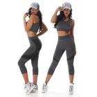 2-Delige Gym Legging met Tanktop Zwart