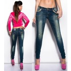 Skinny Jeansbroek in  Destroyed Style