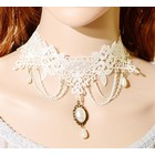 Kanten Choker Ketting Wit
