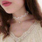 Vintage Choker Ketting Wit