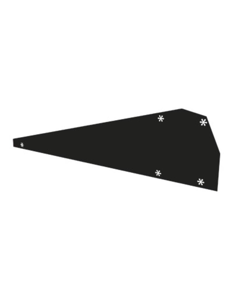 Flatfix Flatfix fusion winddeflector links zwart
