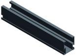 Van der Valk solar systems Van der Valk basisprofiel side zwart 2072mm