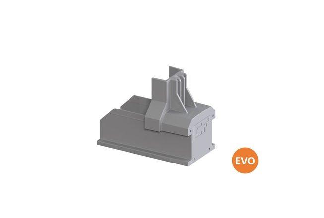 Clickfit Evo ClickFit Evo - Montagerail Eindkap grijs