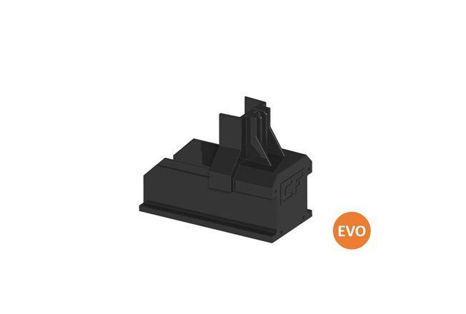 Clickfit Evo ClickFit Evo - Montagerail Eindkap zwart