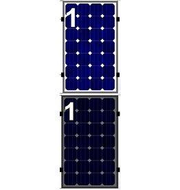 Clickfit EVO Set 1 rij van 1 zonnepaneel portrait