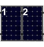 Clickfit Clickfit Evo set 1 rij van 2 zonnepanelen portrait