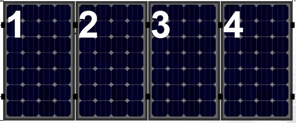 Clickfit Evo Clickfit Evo set 1 rij van 4 zonnepanelen portrait