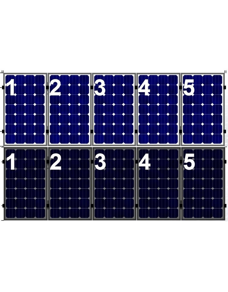 Clickfit Clickfit Evo set 1 rij van 5 zonnepanelen portrait