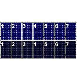 Clickfit EVO Set 1 rij van 7 zonnepanelen portrait
